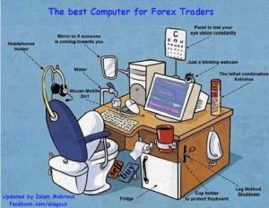 Funny forex- Forex trader's desk