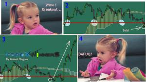 Forex Fun- She bought after the breakout