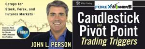 Candlestick and pivot point trading